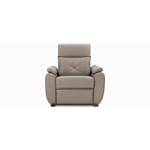 Sorrento Accent chair / Motion with half arm (044; Wood legs - Charcoal 74)