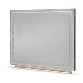 Hollywood Swank Rectangular Dresser Mirror Crystal Croc