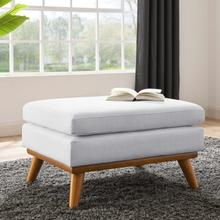 See Details - Engage Upholstered Fabric Ottoman in White