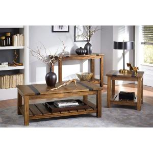 Standard Furniture - Nelson Console Table, Distressed Brown