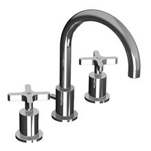 Cross handle 3-hole basin mixer, with P.U.W.