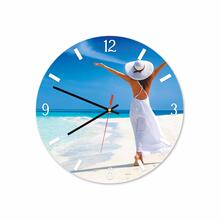 Women In Beach Round Acrylic Wall Clock