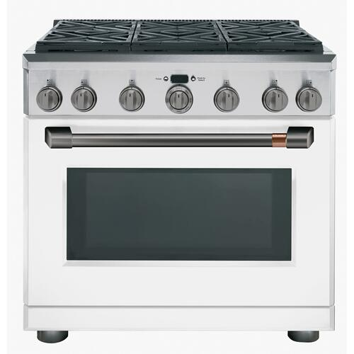 """Cafe - Café™ 36"""" Dual-Fuel Commercial-Style Range with 6 Burners (Natural Gas)"""