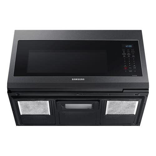 1.7 cu. ft. Over-the-Range Microwave with Convection and Slim Fry™ in Black Stainless Steel