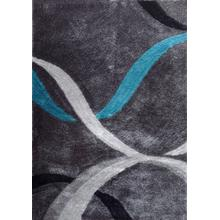 Vibrant Hand Tufted Modern Shag Lola 14 Area Rug by Rug Factory Plus - 5' x 7' / Gray