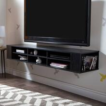 Wall Mounted Media Console - 66\ - Black Oak