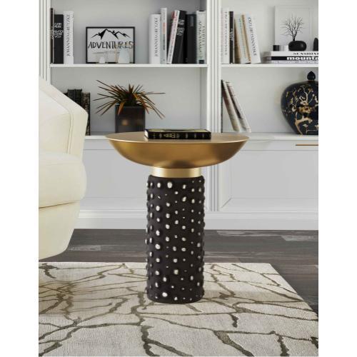 Blaze Glass/Brass Side Table