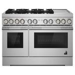 """Jenn-AirRISE 48"""" Dual-Fuel Professional Range with Chrome-Infused Griddle"""