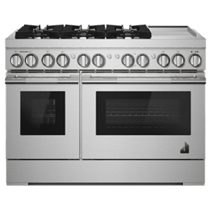 "JennAirRISE 48"" Dual-Fuel Professional Range with Chrome-Infused Griddle"