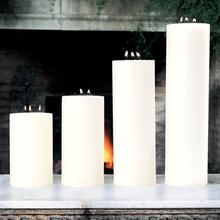 3 Wick Pillar Candle-Unscented-5 x8