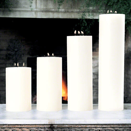 3 Wick Pillar Candle-Unscented-5 x14
