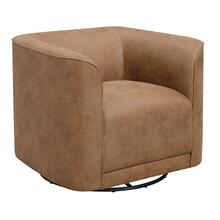 Whirlaway Swivel Accent Chair Badlands Saddle