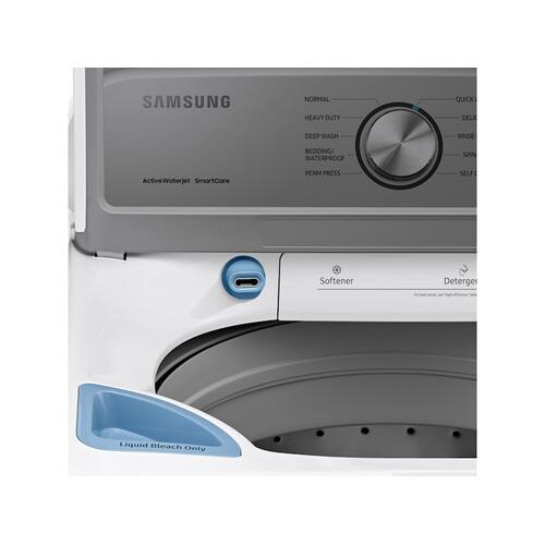 Samsung - 4.5 cu. ft. Capacity Top Load Washer with Active WaterJet in White
