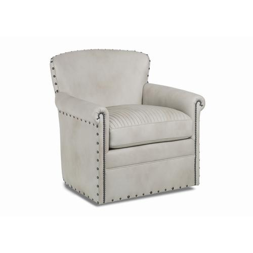 Traveler's Quilted Swivel Chair
