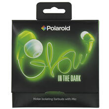 Polaroid Glow Headphones, Noise Isolating Earbuds with Mic - PHP735GR, Green