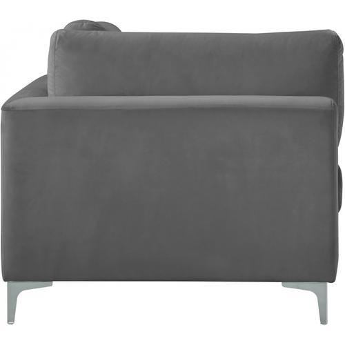 "Julia Velvet Modular Corner Chair - 37.5"" W x 37.5"" D x 33"" H"