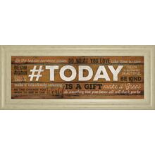 """Today Is A Gift"" By Marla Rae Motivational Framed Print Wall Art"
