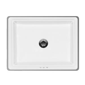 """White PRESLEY Undermount Lavatory, 18"""" Product Image"""