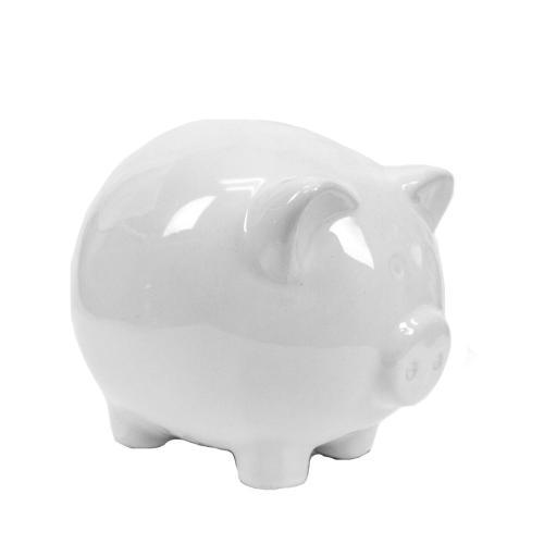 - White Ceramic Pig