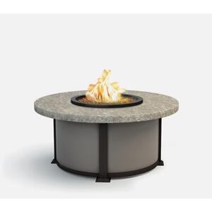 "42"" Round Coffee Fire Pit Ht: 19"" Valero Aluminum Base (Indicate Top, Frame, & Side Panel Color)"