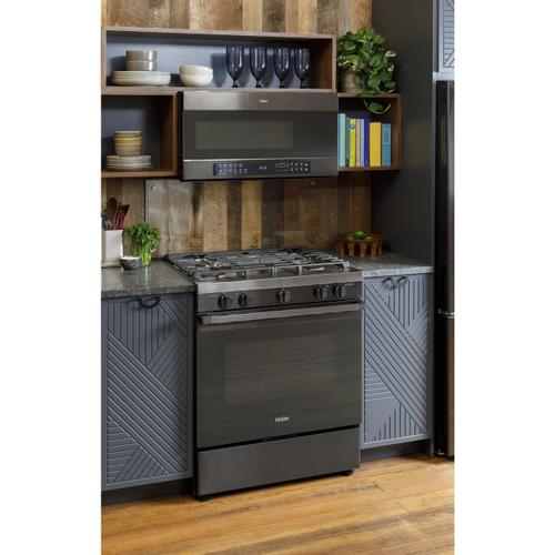 """Haier - 30"""" Smart Slide-In Gas Range with Convection"""