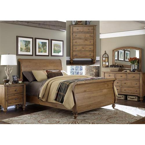 Liberty Furniture Industries - King Sleigh Bed, Dresser & Mirror, Chest, NS