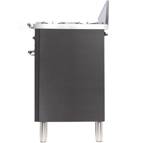 Nostalgie 30 Inch Gas Natural Gas Freestanding Range in Stainless Steel with Bronze Trim