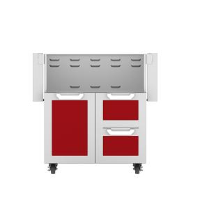 """30"""" Hestan Outdoor Tower Cart with Door/Drawer Combo - GCR Series - Matador"""