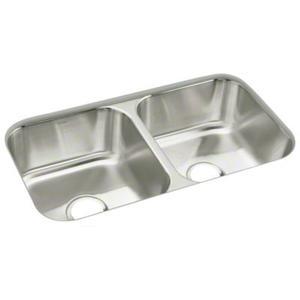 """McAllister® 32"""" x 18"""" x 8-1/4"""" Double-basin Kitcen Sink"""