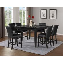 View Product - Markina 7 Piece Square Black Marble Top Counter Set(Counter Table & 6 Counter Chairs)