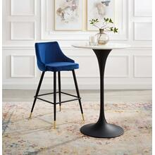 Adorn Performance Velvet Bar Stool in Navy