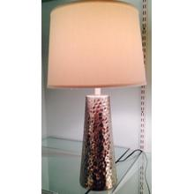 Silver Bubbled Lamp