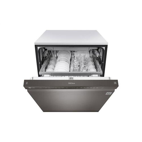 LG - Front Control Smart wi-fi Enabled Dishwasher with QuadWash™