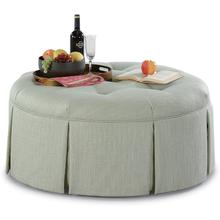 "Downing 32"" Round Cocktail Ottoman with Casters"