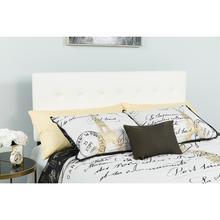 See Details - Lennox Tufted Upholstered King Size Headboard in White Vinyl