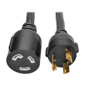 Power Extension Cord, NEMA L5-30P to NEMA L5-30R- Heavy Duty, 30A, 125V, 10 AWG, 10 ft., Black, Locking Connectors