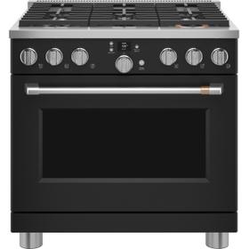 """Café 36"""" Smart Dual-Fuel Commercial-Style Range with 6 Burners (Natural Gas)"""