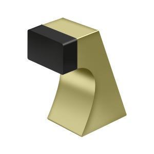 """Floor Door Bumper 2-1/2"""", Contemporary, Solid Brass - Unlacquered Brass"""