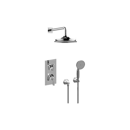 Finezza UNO M-Series Thermostatic Shower System - Shower with Handshower