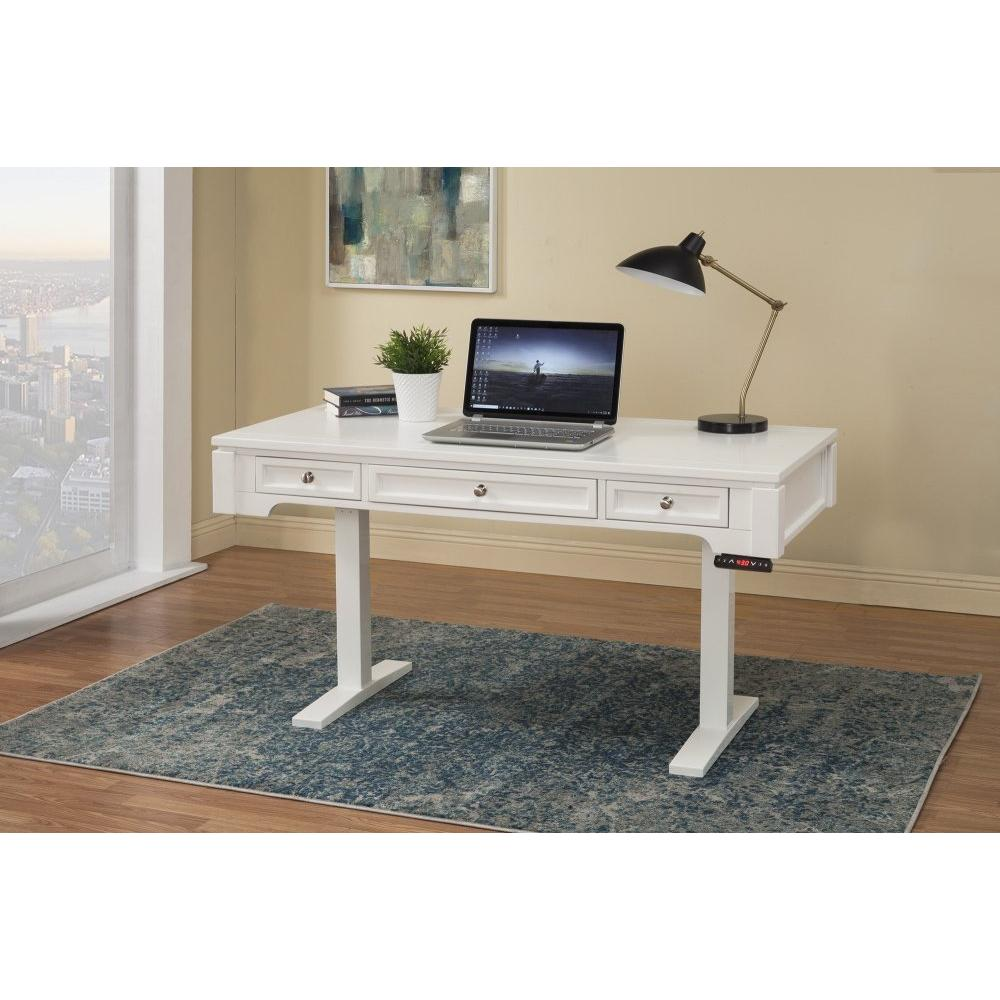 BOCA 57 in. Power Lift Desk (from 29 in. to 55 in.) (BOC#257T and LIFT#200WHT)