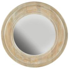 White Washed Wooden Mirror