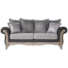 San Marino 2-Tone Fabric Wooden Frame Sofa, Gray