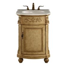 24 In. Single Bathroom Vanity Set In Antique Beige