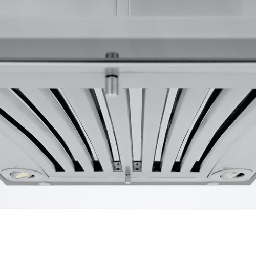ZLINE Convertible Vent Island Mount Range Hood in Stainless Steel & Glass (GL9i) [Size: 36 Inch]