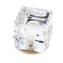 24k Gold 30 mm Square Crystal Knob