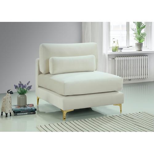 """Julia Velvet Modular Armless Chair - 33.5"""" W x 37.5"""" D x 33"""" H"""