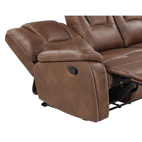 Katrine Manual Reclining Loveseat, Brown