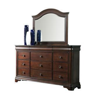 Cameron Cherry Dresser & Mirror Set