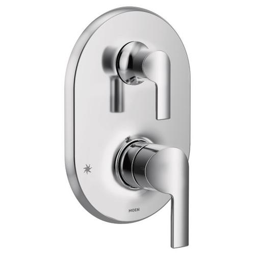 Doux chrome m-core 3-series with integrated transfer valve trim