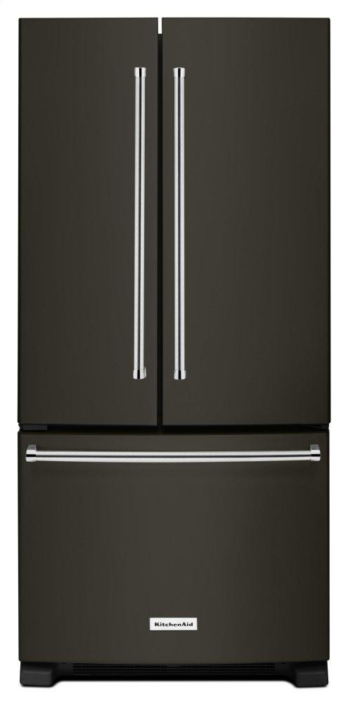 KitchenAid22 Cu. Ft. 33-Inch Width Standard Depth French Door Refrigerator With Interior Dispenser - Black Stainless Steel With Printshield™ Finish